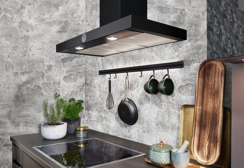 Schwarze Küche nobilia Speed mit Reiling