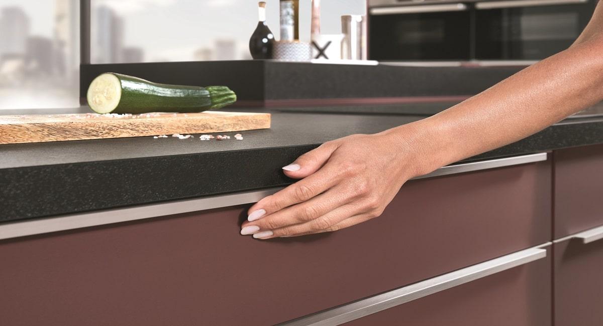 Küche nobilia Easytouch Sopermatt-Front Anti-Fingerprintbeschichtung