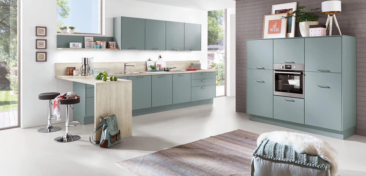 Küchenzeile Touch Aqua, nobilia