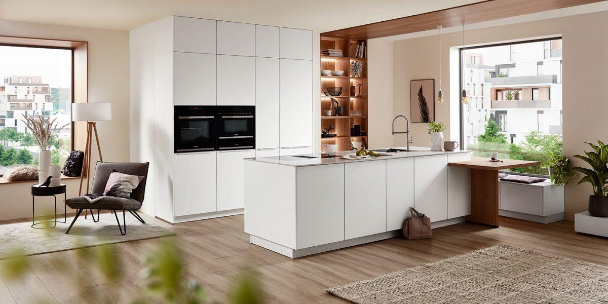 Wohnküche Easytouch mit Insel, nobilia
