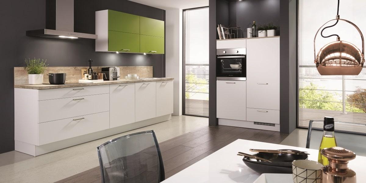 Basic-Küche Fashion Weiß Matt mit Akzent, nobilia