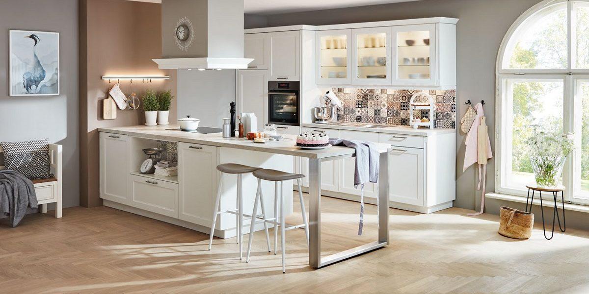 Landhausküche Cascada mit Küchentresen, nobilia