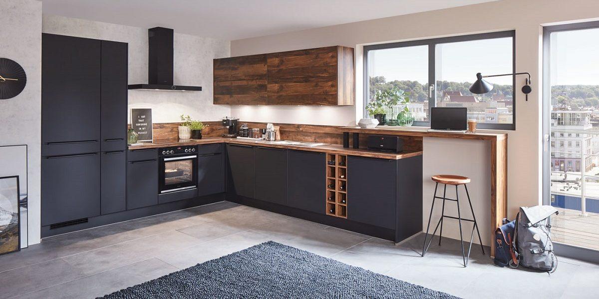 Einbauküche Easytouch L-Form, nobilia