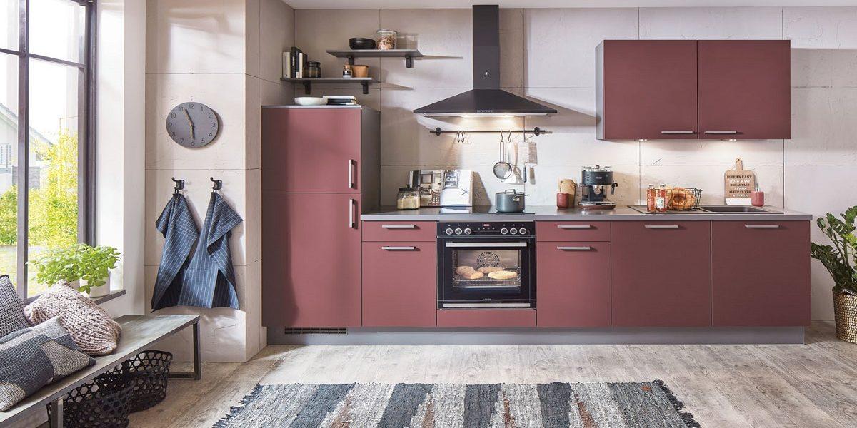 Küchenblock Easytouch Rostrot, nobilia