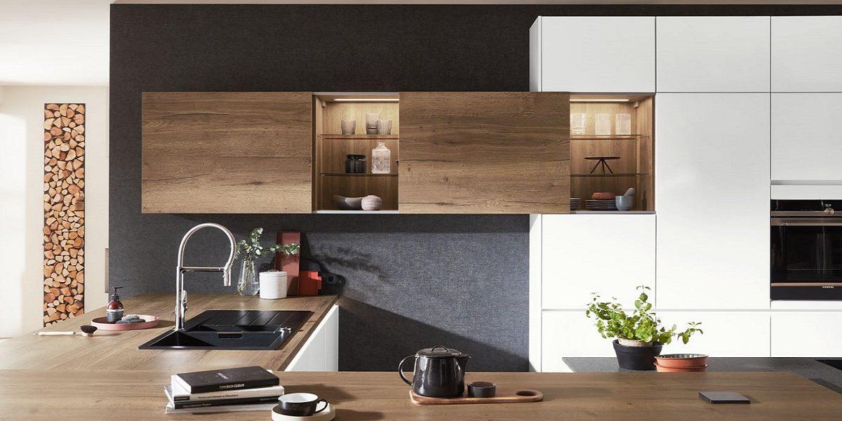 Küche Fashion mit Schiebeturen-Wandschrank, nobilia