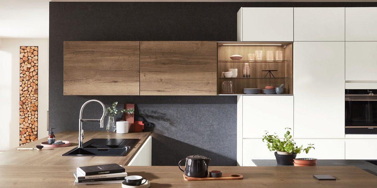 Küche Fashion, Wandschrank mit Schiebeturen, nobilia