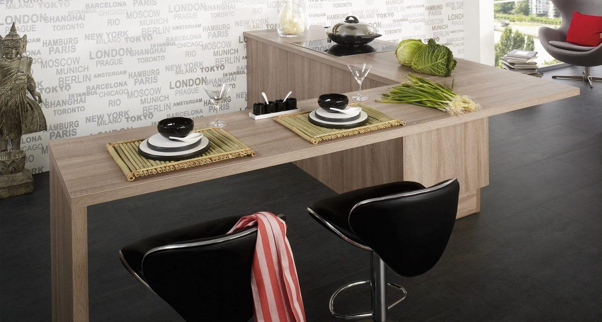 Küchentresen in Holz-Optik, Cora, Burger