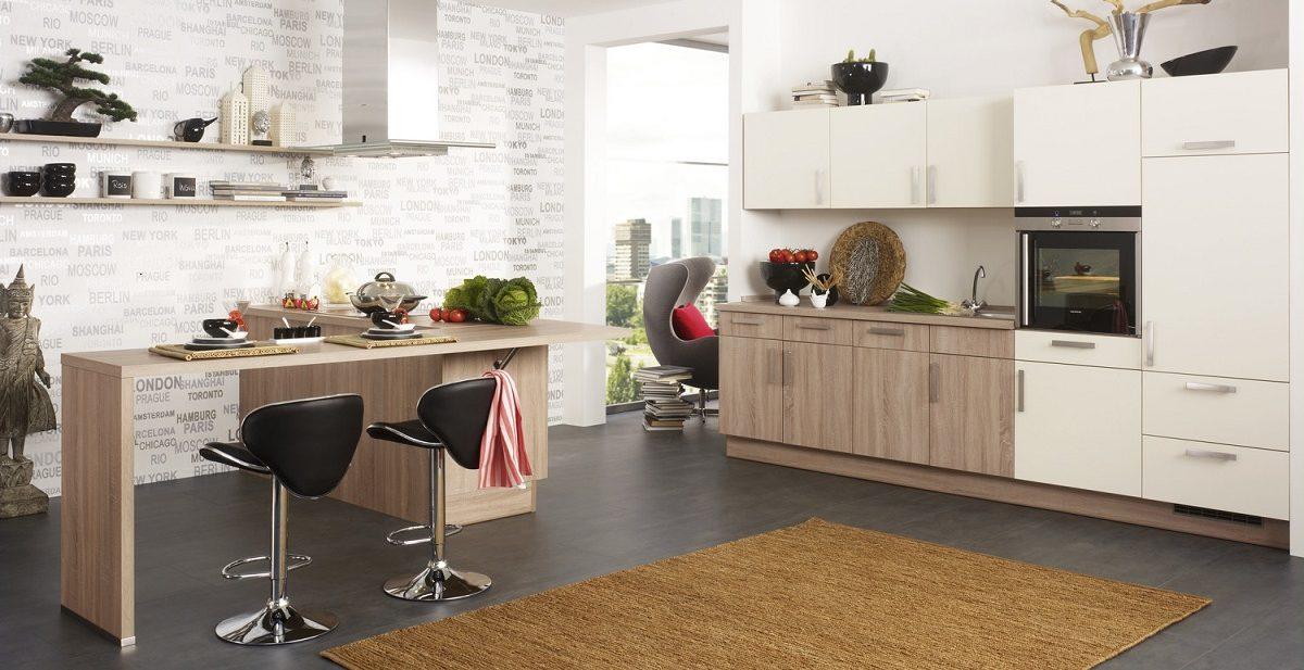 Wohnküche Cora mit Küchentresen, Burger
