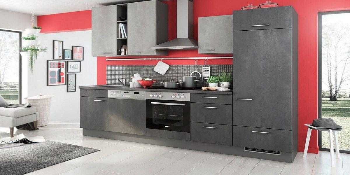 Küchenzeile in Beton-Optik Burger