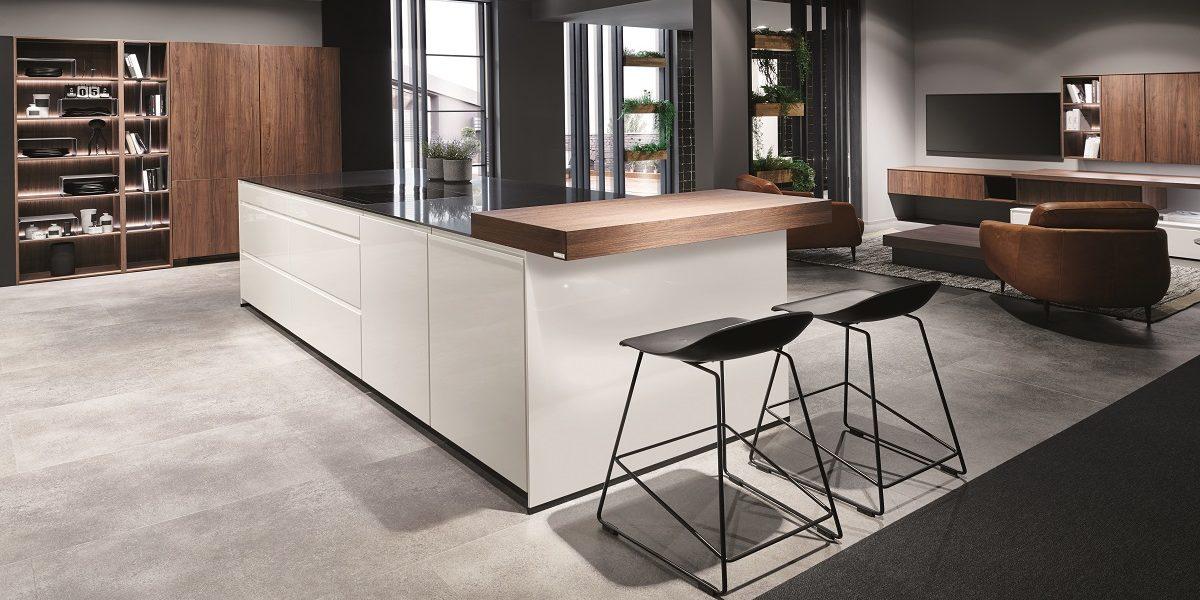 Moderne Wohnküche Pura, nobilia