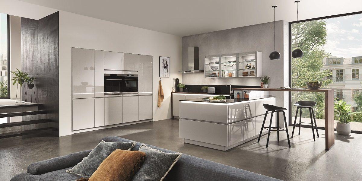 Wohnküche Lux Hochglanz. nobilia
