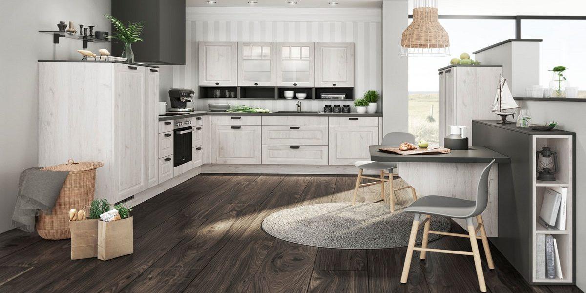 Holz-Küche mit Scandi-Note Mila, Burger